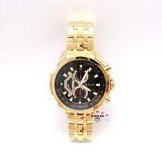 Đồng hồ nam HALEI dây kim loại thời thượng ( HL3049 dây vàng mặt đen ) – TẶNG 1 vòng tỳ hưu phong thuỷ