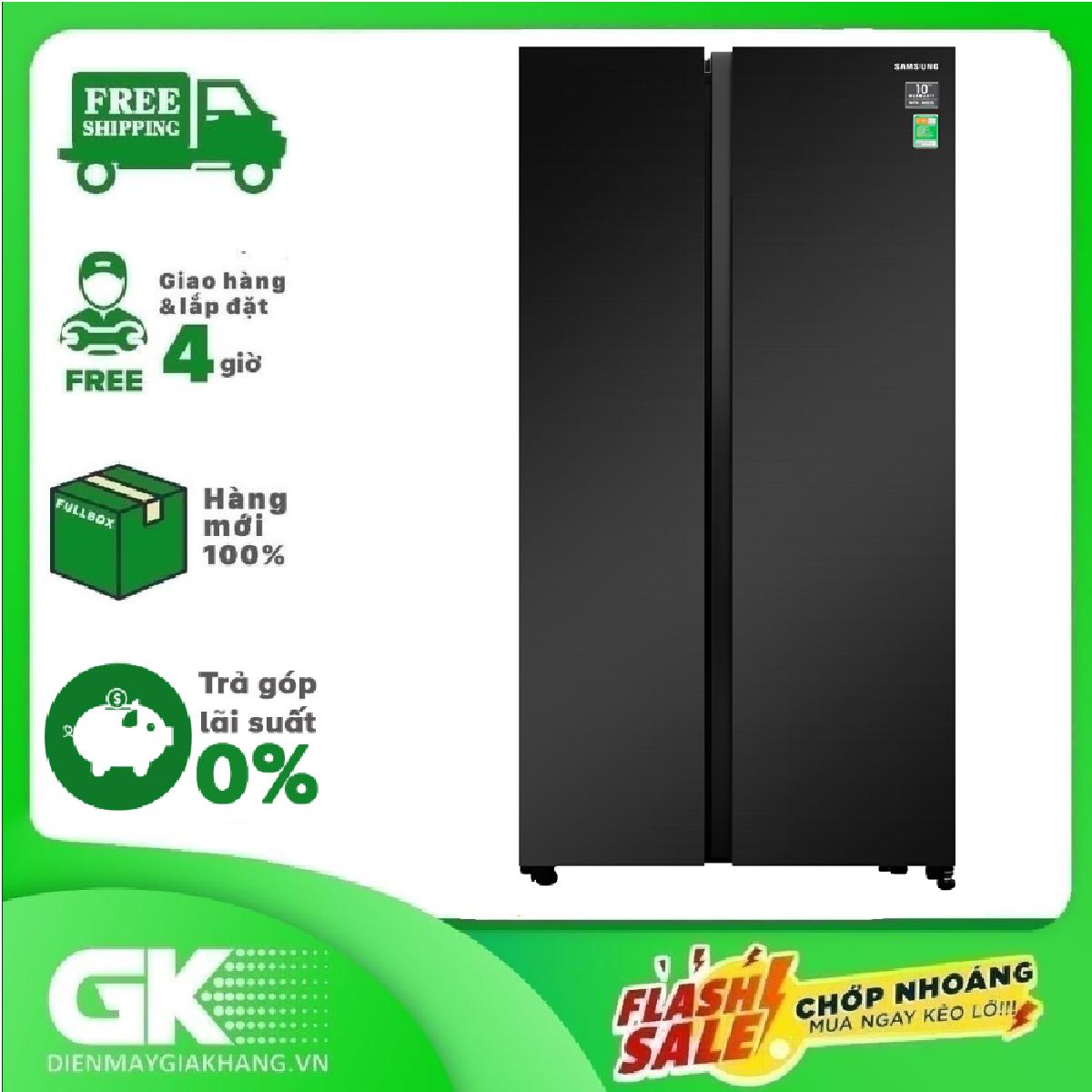 [GIAO HÀNG 2 – 15 NGÀY, TRỄ NHẤT 30.09] TRẢ GÓP 0% – Tủ lạnh Samsung Inverter 647 lít RS62R5001B4/SV- Bảo hành 2 năm