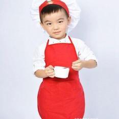 Bộ Đồ Bếp Cho Bé Gồm Tạp Dề Và Nón Từ 3 Đến 5 Tuổi