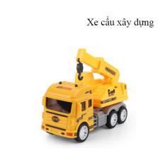 Xe đồ chơi mô hình, xe cẩu móc xây dựng cho bé, tặng kèm 1 xe ô tô mini xinh xắn, chi tiết sắc sảo, làm đồ chơi cho bé hoặc làm đồ trưng bày ( đồ chơi mô hình- ô tô đồ chơi)