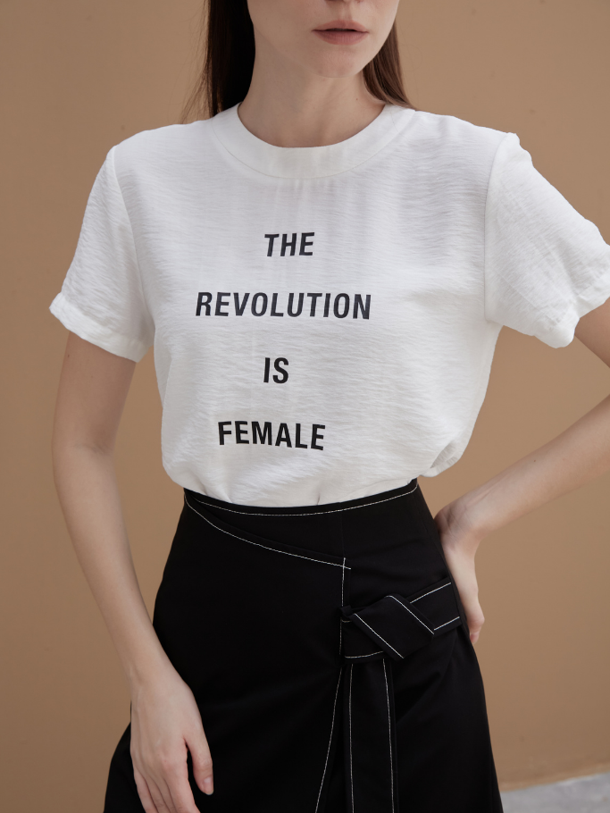COCO SIN – Áo Lụa Trắng The Revolution