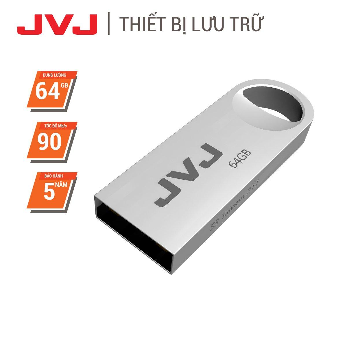 USB 64Gb/32Gb/16Gb/8Gb/4Gb JVJ S3 siêu nhỏ vỏ kim loại - USB 2.0, tốc độ upto 30MB/s siêu nhỏ chống sốc...