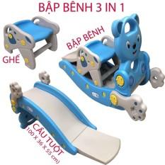 Cầu tuột và bập bênh cho bé có 3 chức năng (3 in 1) BB06