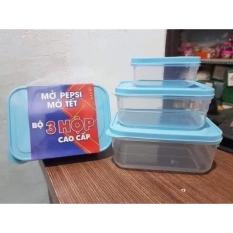 Bộ 3 hộp đựng thực phẩm nhựa đại đồng tiến