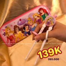Đũa tập ăn kèm túi đựng hình công chúa tóc dài Rapunzel tròn nổi cho trẻ em hàng Disney – DP2098