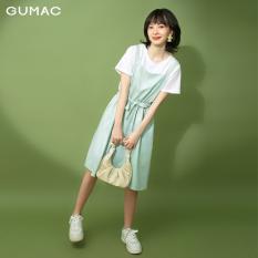 Đầm váy GUMAC thiết kế yếm dây rút DB1124