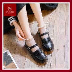[CÓ SẴN] Giày oxford nữ LOLITA RETRO đơn giản 2 màu đen/nâu mũi tròn khâu viền chắc chắn bền đẹp mới quai cài đế bằng đi học đi chơi đi làm giá rẻ trẻ trung năng động quai cài ngang – UMI SHOES