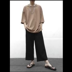 ( ĐỦ SIZE ) Quần Culottes nam nữ ống rộng suông thoải mái form dài- Kiểu dáng đơn giản basic, phong cách thời trang – Quần culottes dài unisex có túi 2 bên, lưng thun co dãn, dài tới mắt cá chân, chất liệu thoáng mát