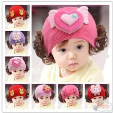 Mũ len tóc giả nhiều mẫu dễ thương cho bé