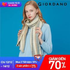 Giordano Women Scarves Stylish Contrast Design Stripe Plaid Scarves British Style Smooth Ladies' Scarves Free Shipping 05589601