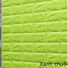 Combo 10 tấm xốp dán tường 3D giả gạch 70x77cm chống thấm nước keo dính chắc, giấy xốp dán tường giá rẻ tiết kiệm chi phí tân trang nhà cửa J0401 – HOM