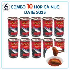 Lốc 10 Hộp Cá Nục Sốt Cà LILLY Thái Lan Đóng Lon 155g, Vị Chua, Ngọt, Thơm, Mềm Xương, Không Ngán, Dùng Ngay Với Cơm, Bánh Mì, Hạn Sử Dụng 2023