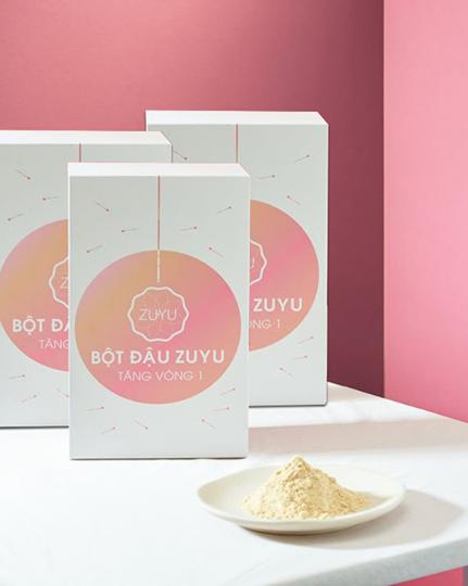 Sỉ 3 hộp Bột Tăng Vòng 1 ZuYu – Bột đậu ZuYu (Mỗi hộp 500 gram uống 1 tháng, Tặng kèm serum massage V1 + Mặt nạ))