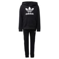 adidas ORIGINALS Bộ quần áo hoodie Ba Lá Unisex trẻ em Màu đen DV2847