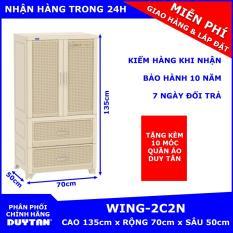 Tủ nhựa Duy Tân WING 2C-2N 1 buồng treo quần áo tặng kèm 10 móc treo quần áo Duy Tân