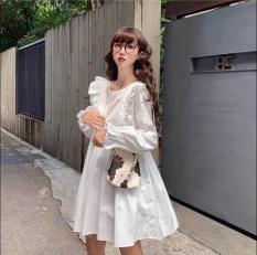 [FREESHIP] Váy đầm nữ đi chơi, đi tiệc, váy nữ cánh tiên dáng xòe tay dài chất von xôn mềm mịn không nhăn [VÁY TIỂU TH]