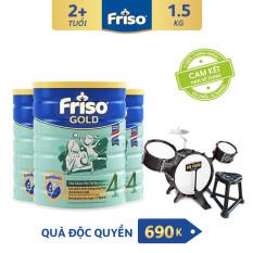 [Freeship toàn quốc] Bộ 3 lon sữa bột Friso Gold 4 1.5kg + Tặng Bộ trống Trị giá 690K – HSD 09/2022