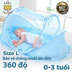 Mùng lưới chống muỗi cho bé, Mùng che để sàn cho bé, Mùng kiểu lắp ráp, Mùng kiểu Mông Cổ có thể tháo ráp thích hợp cho bé ngủ trưa