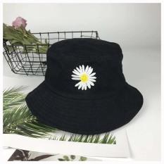 (Ảnh Tự Chụp) Mũ bucket tai bèo nón vành nam nữ thời trang Thêu Hoa Cúc cá tính