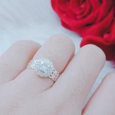 [ SIÊU GIẢM GIÁ ] Nhẫn nữ, nhẫn kim tiền mạ bạc gắn đá pha lê cao cấp phong thủy mang tài lộc may mắn Trang Sức Gadoshop VN17091959 – đeo đi đám cưới vô cùng quý phái