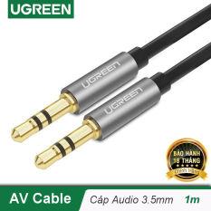 Dây Audio 3.5mm 2 đầu đực dạng cáp tròn mạ Vàng 24K, TPE UGREEN AV119 – Hãng phân phối chính thức