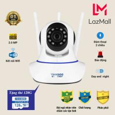 [Combo kèm thẻ 128gb] Camera Wifi Yoosee NC02 2.0MP 3 RÂU xoay 360 độ hình ảnh sắc nét nhất , đàm thoại 2 chiều ,báo động chống trộm tránh mát tài sản lớn, dễ dàng sử dụng, Bảo hành 12 tháng
