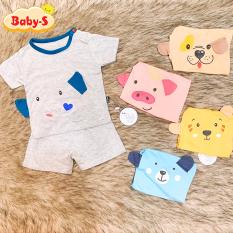 Bộ thun lạnh cộc tay K.Woo Hàn Quốc hình thú nhiều màu sắc cho bé trai và bé gái 4-15kg chất vải mềm mịn co giãn tốt Baby-S – SBVN045