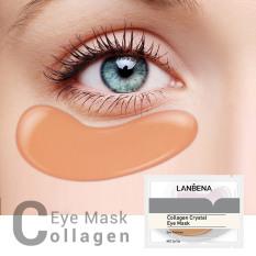 LANBENA Cặp mặt nạ mắt tinh chất collagen vàng 24K giảm quầng thâm mắt chống lão hoá làm săn chắc da