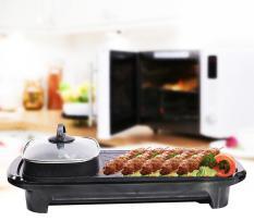 Bếp nướng lẩu điện 2 in 1 – Có khay hứng mỡ thừa – Dung tích 1.5L – Chống dính – Cảm biến nhiệt tự đông ngắt điện khi nhiệt độ quá cao – Nắp kính cường lực cao cấp – Công suất 1300W