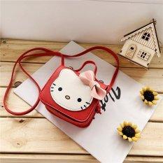 Túi đeo chéo cho bé gái mini ZAKUDO dễ thương, ngộ nghĩnh, thời trang hình MÈO da PU phong cách Hàn Quốc TX03