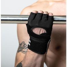 Găng tay tập gym có dây quấn cổ tay dài OM1