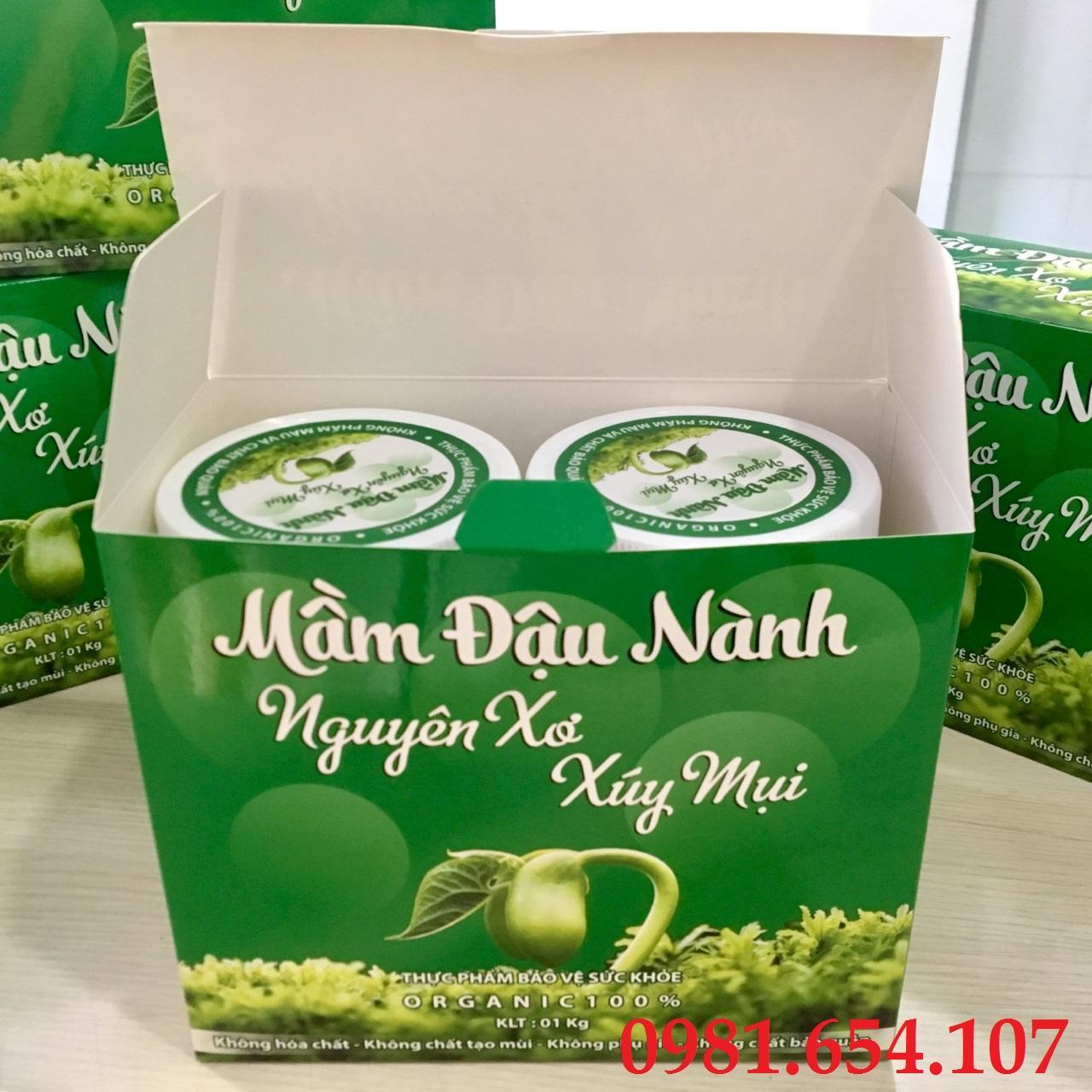 Đậu nành Việt Nam - Mầm đậu nành nguyên xơ Xúy Mụi - đậu nành ta - 1kg 2 hộp...