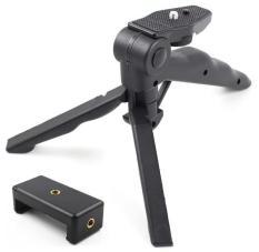 Chân Tripod Handgrip mini xếp gọn + 1 Gá kẹp điện thoại 002
