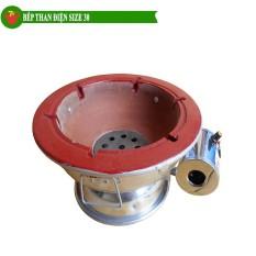Bếp than hoa quạt điện size 30cm Trí Việt