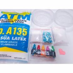 Bộ kit làm slime – slime mây – combo nguyên liệu làm slime basic-slimemây