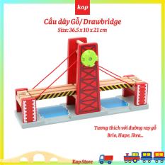 Cầu dây văng, cầu dây gỗ, phụ kiện đường ray xe lửa gỗ, tương thích với các loại đường ray gỗ phổ biến trên thị trường