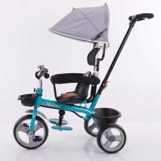 Xe đạp cao cấp 3 bánh có tay đẩy, yên da 180-4 – XD18-4
