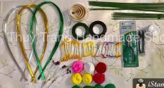 combo nguyên liệu và dụng cụ hoa voan cho người mới làm