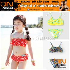 Bộ Đồ Bơi Bé Gái 2 Mảnh Viền Bèo Dễ Thương Nhiều Màu Đáng Yêu Size Từ 10kg Đến 30kg Bin Sports BB008