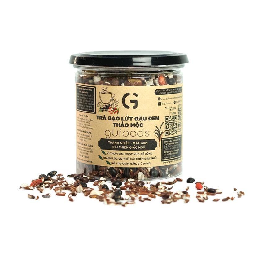 Trà gạo lứt đậu đen GUfoods – Thanh nhiệt, Mát gan, Cải thiện giấc ngủ