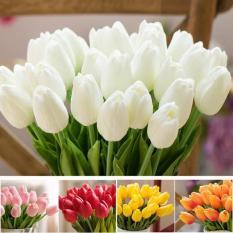 Combo 10 cành hoa tulip silicon siêu đẹp, cành dài 32cm – Hoa tulip – hoa giả cao cấp