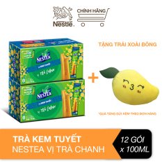 [Tặng trái xoài bông] Combo 2 hộp trà kem tuyết Nestea vị trà chanh (Hộp 6 gói x 100ml)
