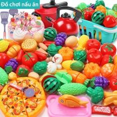 Bộ Đồ Chơi Nhà Bếp Nấu Ăn Rau Củ Quả, Bánh Pizza, Bánh Sinh Nhật Loại Lớn, Đồ Chơi Bếp Điện Có Pin Cho Trẻ Em
