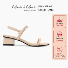 Sandal cao gót nữ 3 phân quai mảnh gót vuông mũi vuông thời trang hàn quốc đẹp cao cấp bAimée & bAmor – MS1588