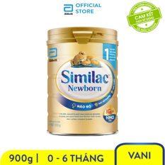 Sữa bột Similac Newborn Eye-Q 900g Gold Label bé từ 0 – 6 tháng bổ sung chất dinh dưỡng phát triển não bộ