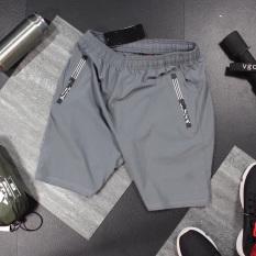 [Freeship – 04 màu] Quần short thể thao NY có 02 túi kéo khoá vải thun lạnh dày đẹp – QDTTNY012