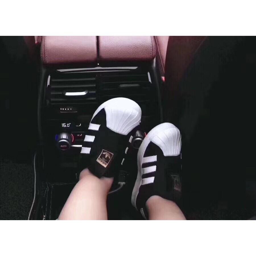 [Lấy mã giảm thêm 30%]Giày Adidas 3 Sọc Trắng Đen Mã Mới