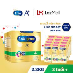 Hộp sữa bột Enfagrow A+ 4 2.2kg (4 túi thiếc 550g) + Tặng 4 lốc sữa bột pha sẵn Enfa 180ml