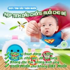 ( Siêu RẺ) 2 Kẹp đuổi muỗi tinh dầu cho bé – HỒNG ÁNH KIDSS