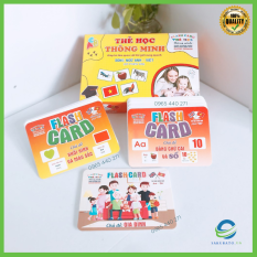 Bộ thẻ học thông minh size to 18 chủ đề 288 thẻ flash card cho bé